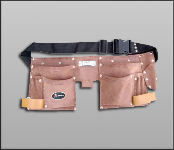 Pocket Double Leather Tool Pouch