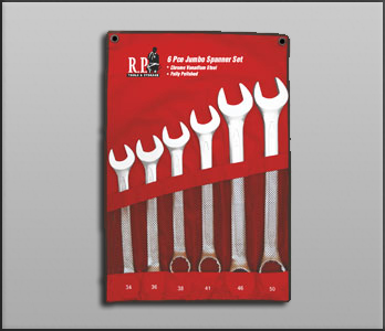 6 Pieces Jumbo Spanner Set